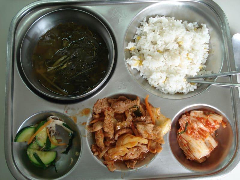 A_South_Korean_school_lunch
